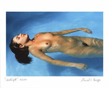 "Limited Edition Fine Art 8"" x 10"" Photographic Nude ""Adrift"" Woman in Pool"