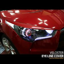 Head Light Eye Line Molding Cover 2Pcs Red Painted for HYUNDAI 2011-17 Veloster