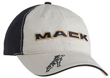 Mack Trucks Black & Gold Khaki Bulldog Logo Cap