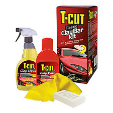 T Cut Classic CLAY BAR Kit Set Car Paint Bodywork Restorer Wax Polish Deep Shine
