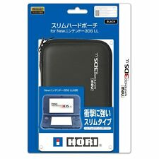 New Hori Slim Hard Pouch case Black Official Licensed for New Nintendo 3DS LL XL