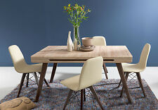 Azteca New Dining Table and Chairs Set Charles Eames retro style in Oak / Beige