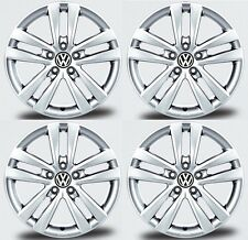 "SET OF FOUR GENUINE VW 17"" 10 SPOKE AKIROS ALLOY WHEELS - 5X112 GOLF EOS PASSAT"