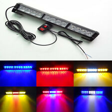 YELLOW/WHITE  12LED FLASH STROBE BAR CAR DASH POLICE EMERGENCY WARNING LIGHT
