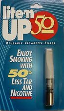 LITE'N UP 50 Reusable Cigarette Filter Cuts Tar & Nicotine Easy Way to Cut Back