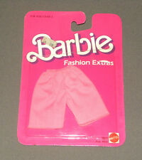 Vintage 1984 Barbie Fashion Extras Doll Outfit Clothes Pink Bermuda Shorts NEW