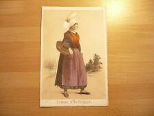 LITHOGRAPHIE ORIGINALE 1850 COSTUME  FEMME D'OCTEVILLE  LE HAVRE  NORMANDIE