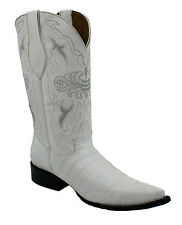 Men's Ranch Roper Crocodile Alligator Belly Western Cowboy Boots