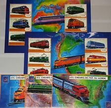GUINEA 2001 3133-44 Block 653-55 1923-27 Locomotives Lokomotiven Trains Züge MNH