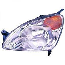 Faro fanale anteriore Sinistro HONDA CRV 02-09.04 H4 per reg elettrica DEPO frec