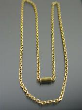 ANTIQUE 15ct GOLD CABLE LINK NECKLACE CHAIN 17 inch C.1880