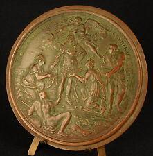 Médaille uniface XVII th Conquête de Tournai & Courtrai par Louis XIV 1667 Medal