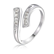 Fashion 925 Sterling silver Plated Zircon Lady Cute wedding Austria crystal Ring