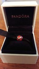 Authentic Pandora Love Red Enamel Hearts Charm Sterling Silver 925