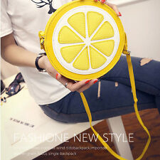 New Lemon Style Ladys Fruit Slice Crossbody Shoulder Bag Messager Handbag Clutch