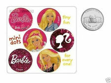 60 Barbie Doll Round Dot Stickers Kid Reward Party Goody Loot Bag Favor Supply