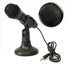 Mini Studio Microphone 3.5mm Plug With Desktop Stand For PC Computer Laptop