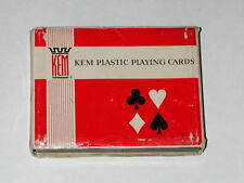 Kem Plastic Playing Cards 2 Decks Paisley Copyright 1947 with Plastic Case and C