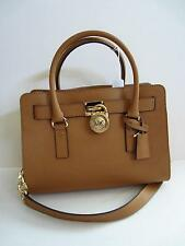 NWT MICHAEL KORS Peanut Brown Hamilton LEATHER East West Satchel TOTE BAG PURSE
