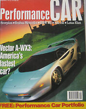 Performance Car 09/1992 featuring Vector, Brabus, BMW M5, Lotus, Nissan GTI-R