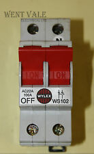 Wylex WS102 - AC22A 100a  Double Pole Switch Disconnector Used