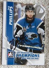 Minnesota Wild Zack Phillips Signed 11/12 ITG Memorial Cup Champions Card Auto