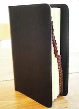 VINTAGE 60'S BLACK LEATHER N&H LEFAX FILOFAX ADVERTISING EXECS A-Z CONTACTS BOOK