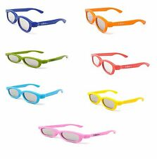 Rainbow mix seven pairs of Children's Passive 3D Glasses LG Toshiba Cinemas LG