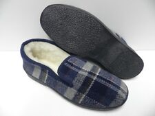Chaussons bleu marine pour HOMME taille 41 garcon laine slippers blue man NEUF