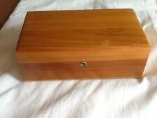 Small Vintage Lane Wood Cedar Chest Jewelry Trinket Box No Advertising  No Key