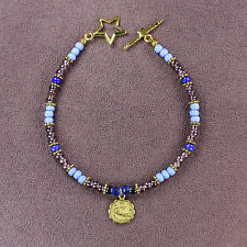 AQUARIUS ZODIAC CHARM BRACELET Amulet Astrology Sun Sign Star Symbol Horoscope