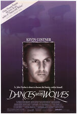 DANCES WITH WOLVES MOVIE POSTER DS 27x40 + WATERWORLD 11x17 MINI - KEVIN COSTNER