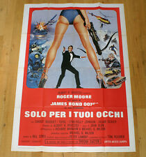 SOLO PER I TUOI OCCHI poster manifesto Roger Moore 007 Bond For your Eyes Only