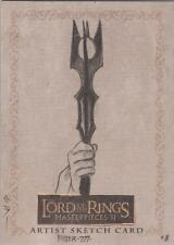 "Lord of the Rings Masterpieces II - Steven Miller ""Saruman's Staff"" Sketch Card"