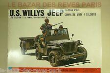 BANDAI.  US WILLYS JEEP.  1/48.   Vintage kit.
