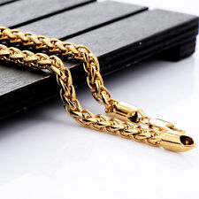 Solid 18K Yellow Gold Filled Twist Rope Chain Link Bracelet Twisted