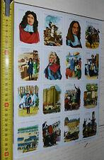RARE PLANCHE N°36 23 X 32 CHROMOS ECOLE VOLUMETRIX 1957 HISTOIRE CE 2