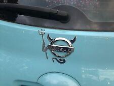Chrome color PVC devil demon badge/sticker X2 for VW,Toyota,Mazda ALL CARS