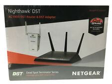NETGEAR Nighthawk DST AC1900 Wireless-AC Gigabit Router w/DST Adapter Black VG