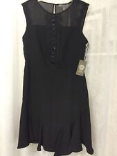 Vince Camuto Holiday Glam Rich Black Lined Women's Dress Size 2 New! $178
