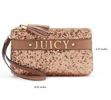 Juicy Couture Sequin Wristlet in Rose Gold -$55.00 Value -New