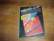 1989 Austrian Open 350000 Dollar Head Up Tennis Program