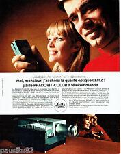 PUBLICITE ADVERTISING 026 1969   Leitz  projecteur  le Pradovit-Color