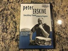 PETER ERSKINE EVERYTHING I KNOW, A WORK IN PROGRESS RARE DVD DRUM INSTRUCTIONAL!