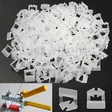 200Pcs Tile Leveling System Clips 1mm Spacer Plastic Tiling Wall Floor Tools