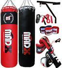 Sacco da pugilato MADX 150cm pieno pesante set con catena supporto guanti corda
