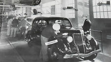 "1936 Ford  Ford at end of assembly line 12X18"" Black & White Picture"
