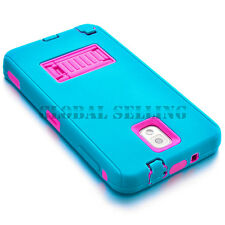 Hybrid Rugged Impact Rubber Hard Case Cover for Samsung Galaxy Note 2 /3 /4