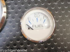"FUEL GAUGE 2"" FARIA CHESAPEAKE WHITE 678-13801 MARINE BOAT GAS STAINLESS BEZEL"