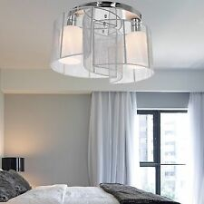 Modern Ceiling Pendant 2 Light Drum Lighting Chandelier Fixture Flush Mount